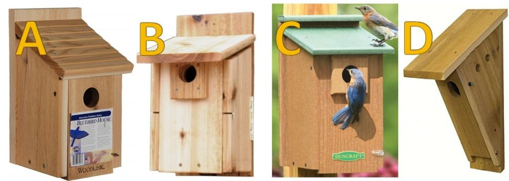 bluebird nest boxes